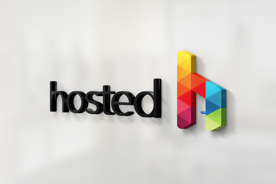 Hosted Logo 3d