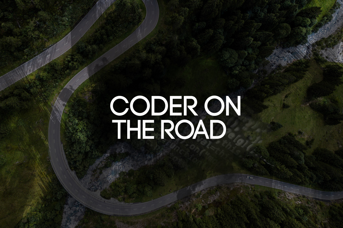 Coder On The Road Kişisel Logo Tipografi Tasarımı