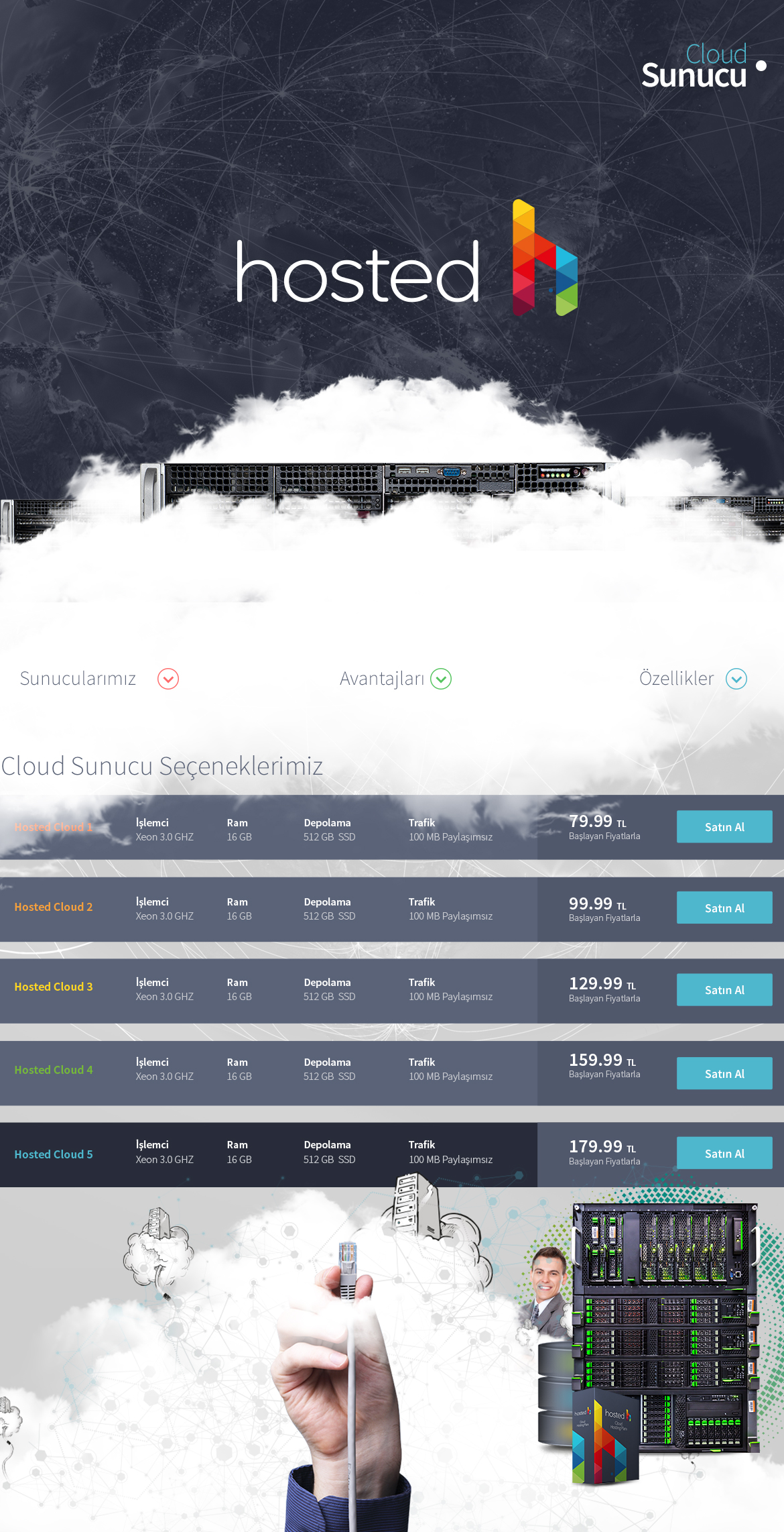 Cloud Hosting Web Design