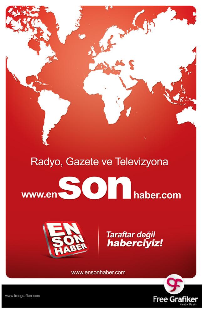 Ensonhaber.com Dergi Reklamı Tasarımı