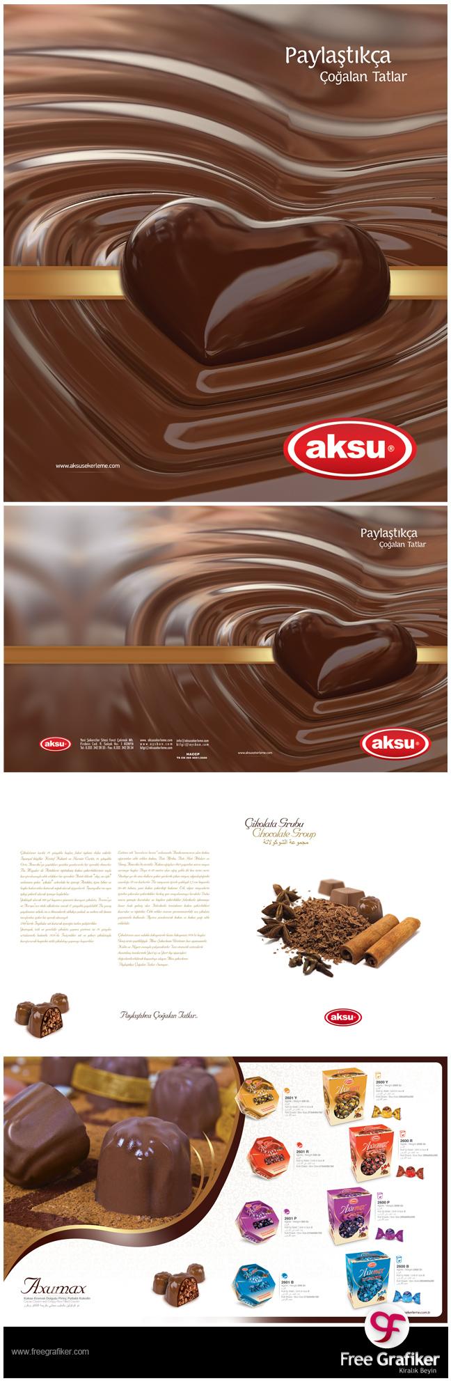 Aksu Şekerleme Ürün Kataloğu Tasarımı