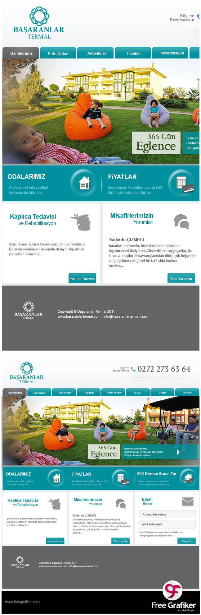 Başaranlar Termal Web Sitesi Tasarımı