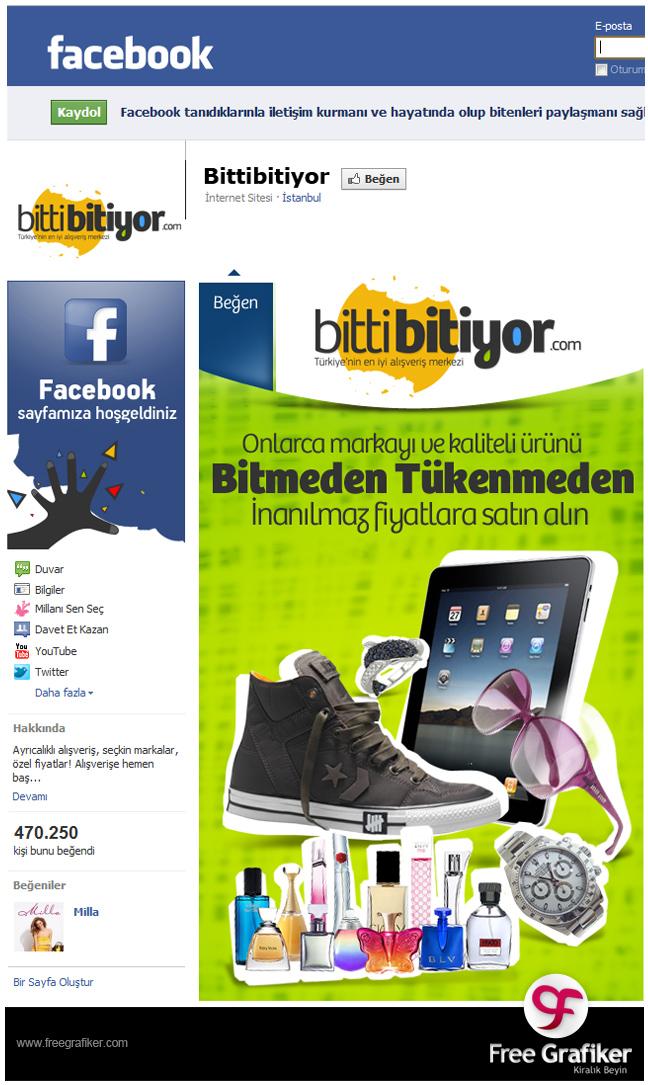 Bittibitiyor.com Facebook Sayfası Tasarımı