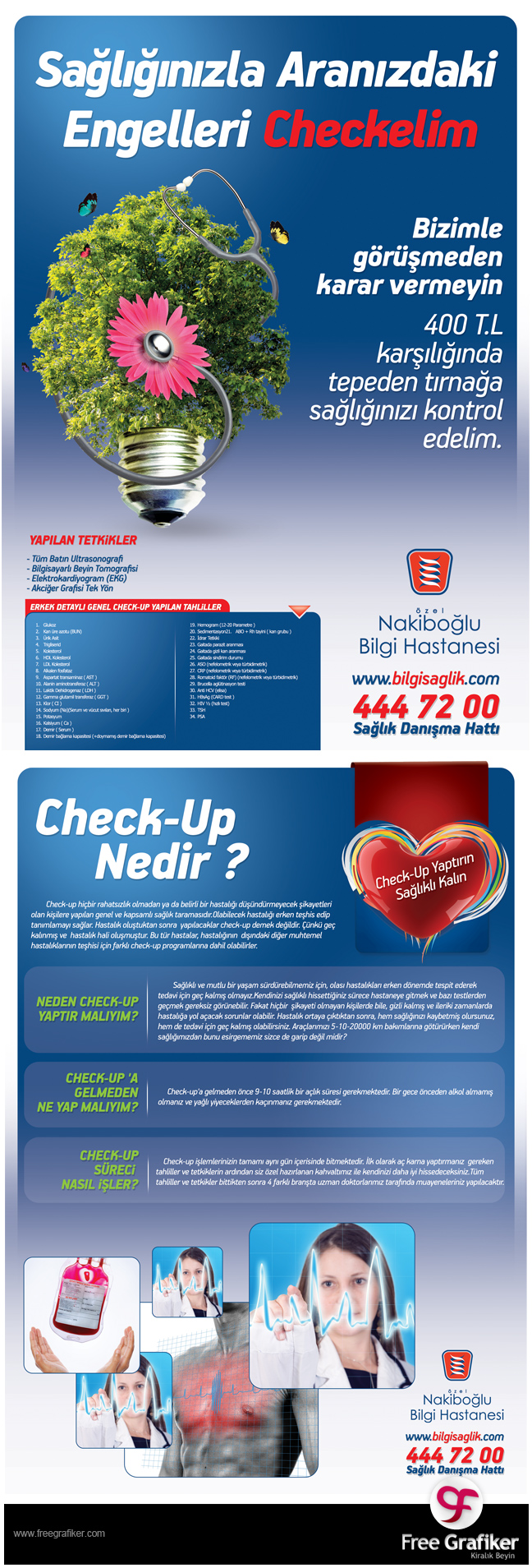 Nakiboğlu Hastanesi Dergi Reklamı Tasarımı