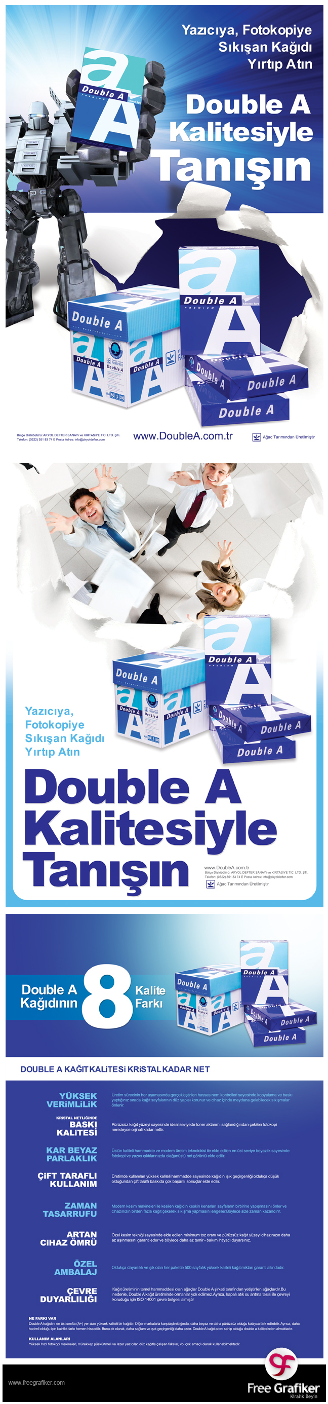 Double A a4 kağıdı gazete ve dergi reklamı
