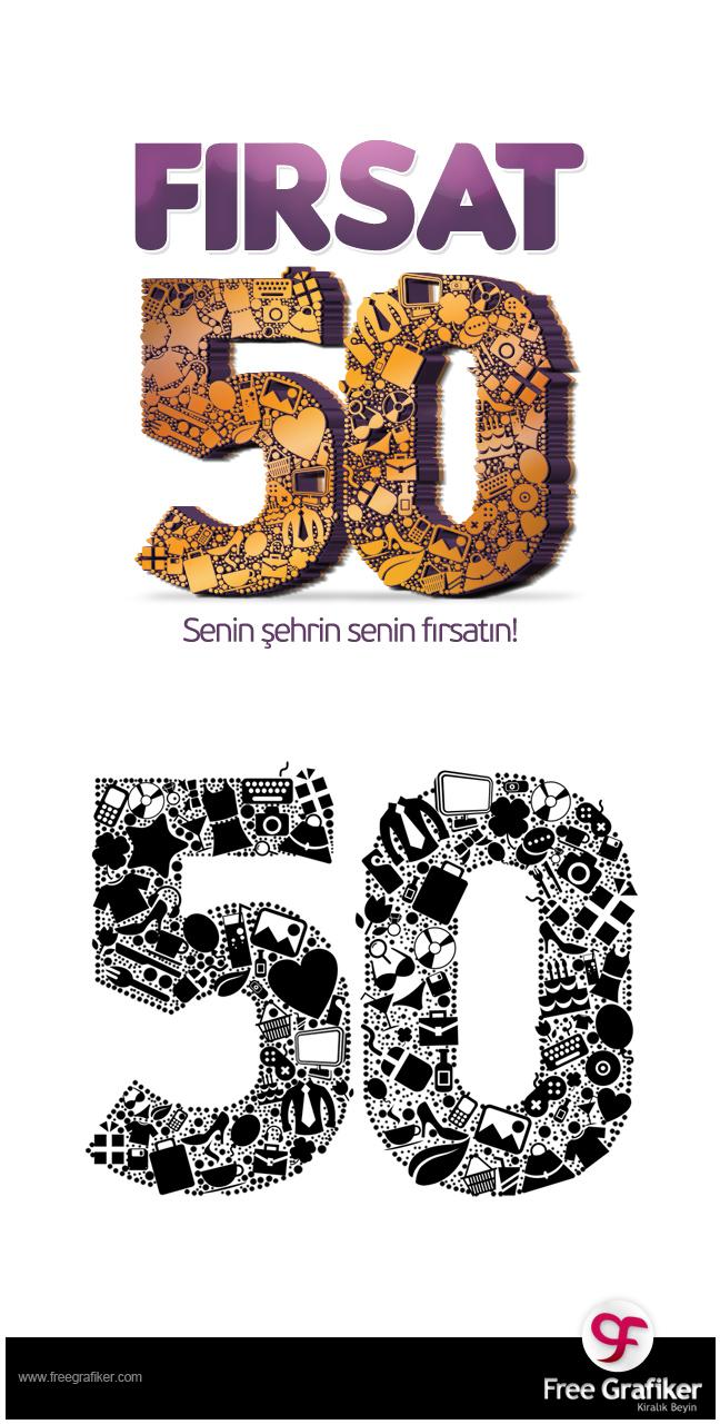 Fırsat50 Logo Tasarımı