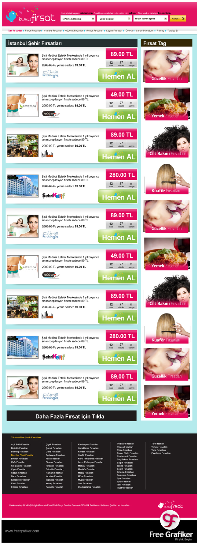 Fırsat Kuşu firsatkusu.com fırsat sitesi tasarımı