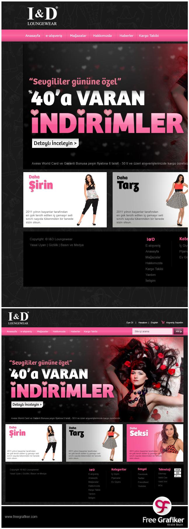 Id.com.tr tekstil e ticaret sitesi tasarımı