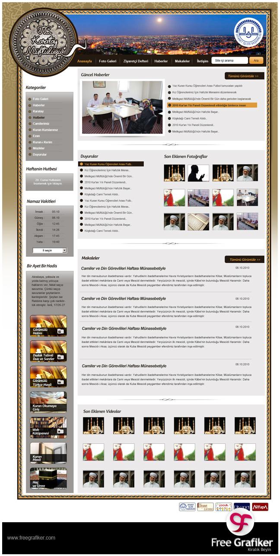 Konya Karatay Müftülüğü Web Sitesi Tasarımı