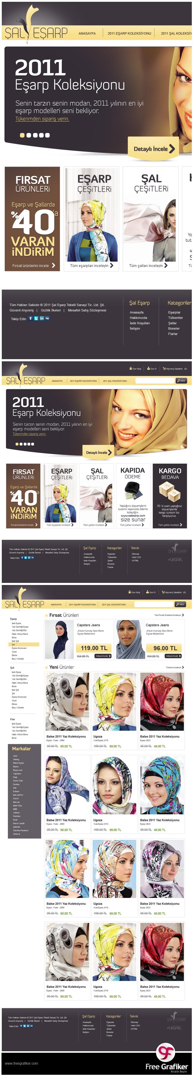 Şal Eşarp E Ticaret Sitesi Tasarımı