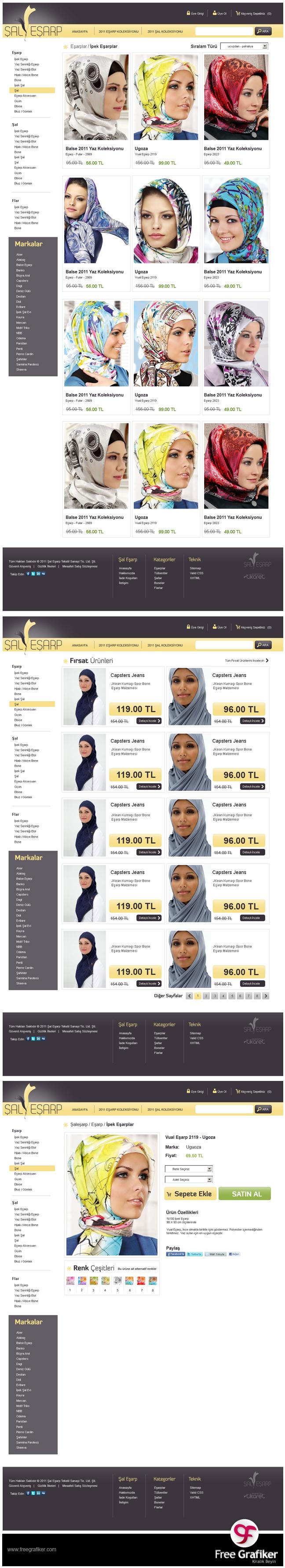 Şal Eşarp E Ticaret Sitesi Tasarımı Alt Sayfalar