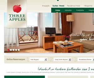 Three Apples Otel Web Sitesi Tasarım