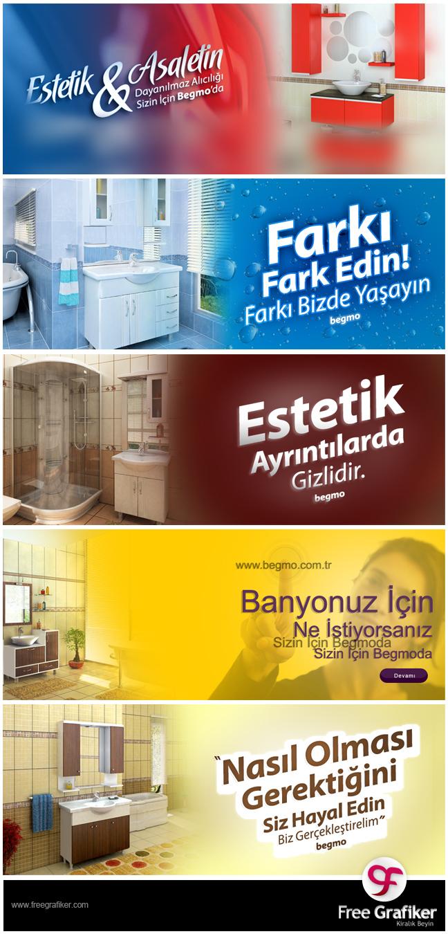 Begmo Banyo Dolapları Slider ve Banner Tasarımı
