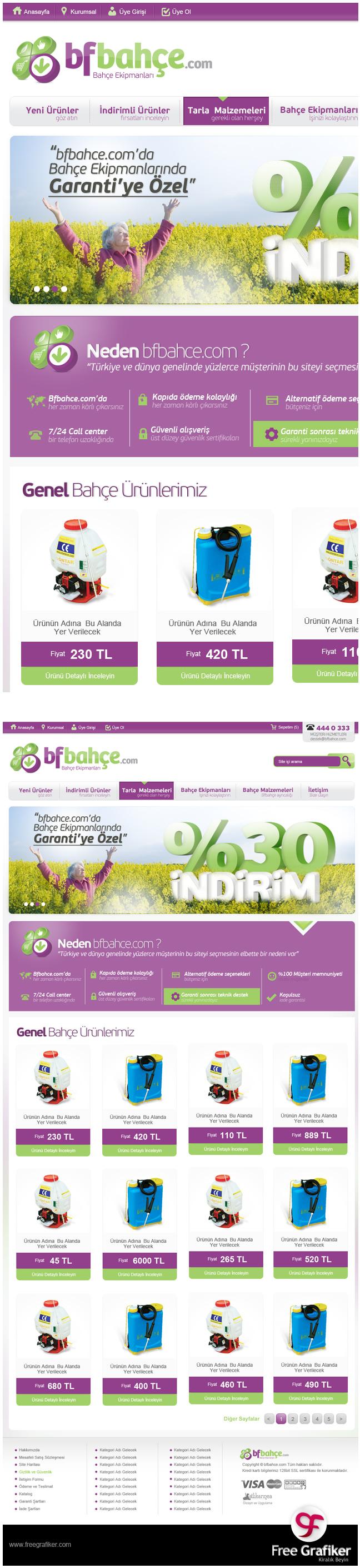 Bfbahçe.com E Ticaret Sitesi Tasarımı