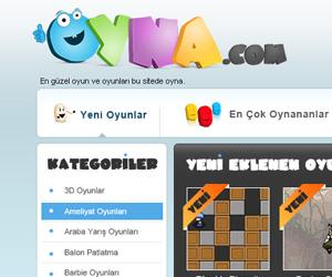 Oyna.com Oyun Sitesi Tasarımı