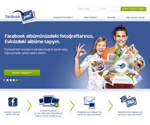 Facebook Print Web Arayüz Tasarımı