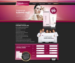 Vabella Krem Ürün Satış Sitesi Tasarım