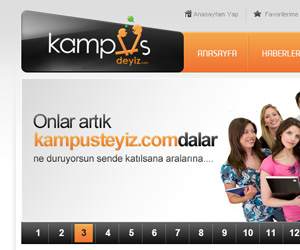 Kampusdeyiz.com Web Arayüz Tasarım