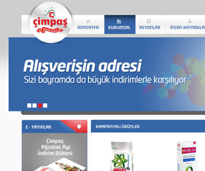 cimpas alisveris merkezi web sitesi tasarim