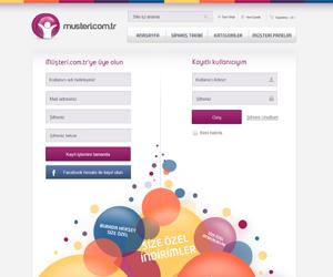 Musteri.com.tr Web Arayüz Tasarımı