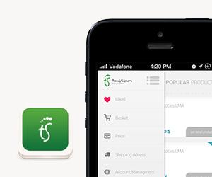 TrendySlippers iPhone Uygulama Tasarımı