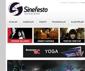 Sinefesto.com Web Arayüz Tasarımı