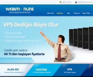 Webimonline Hosting Sitesi Arayüz Tasarımı