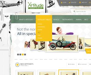 Artiude.dk E Ticaret Sitesi Arayüz Tasarımı