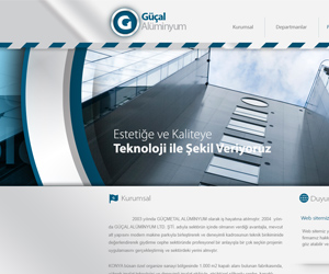 Güçal Alüminyum Web Sitesi Tasarım