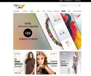 Ajia.com.tr E Ticaret Arayüz Tasarımı