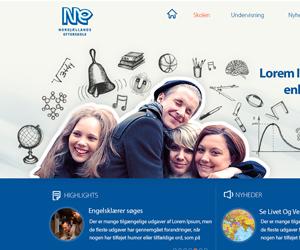 Ne.dk Özel Okul Web Arayüz Tasarımı