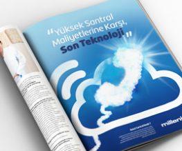 Millenicom Bulut Santral Dergi Reklamı