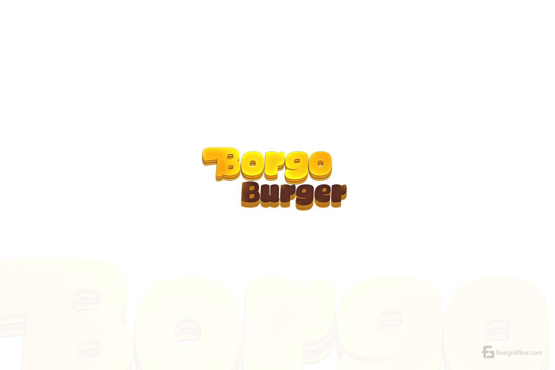 Burger Fastfood Logo Tasarım