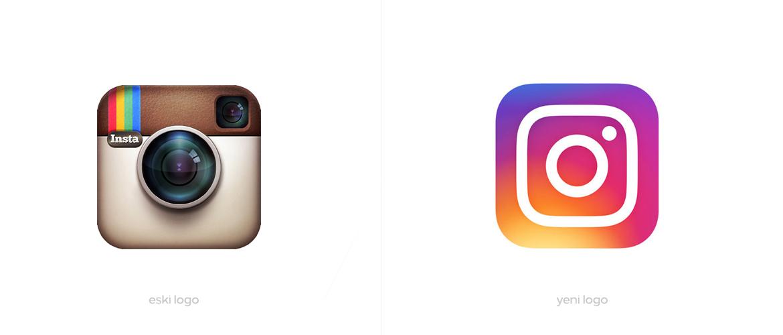Instagram'ın Yeni ve Eski Logosu