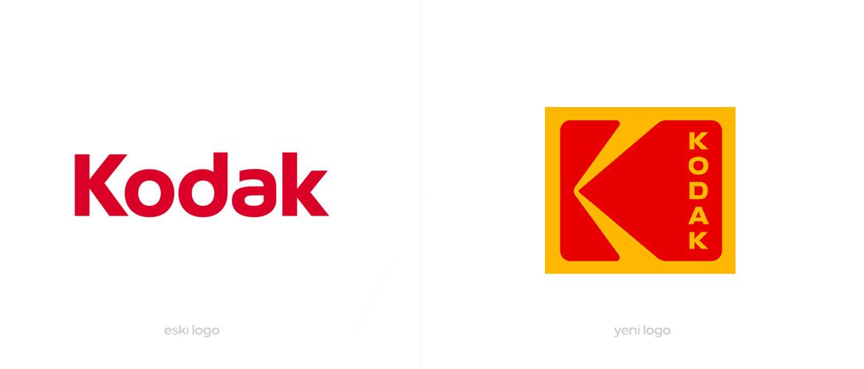 Kodak Yeni ve Eski Logo Tasarımı
