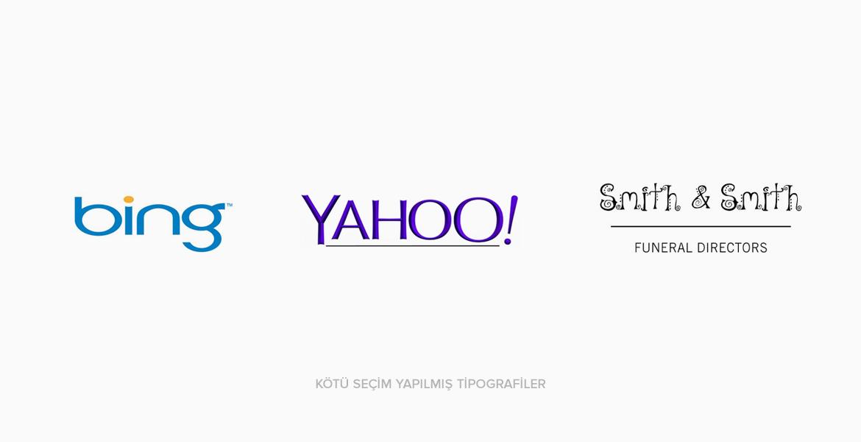 Logo Tasarımında Kötü Seçim Yapılmış Fontlar