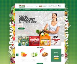 Harvest Natural Market Web Arayüz Tasarı