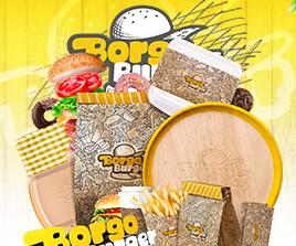Borgo Burger Logo Tasarım Çalışması