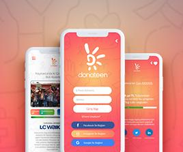 Donateen Iphone Uygulama Arayüz Tasarım