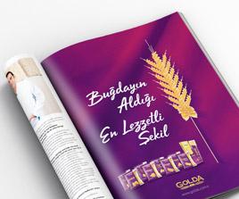 Golda Makarna Dergi Reklamı Tasarımı