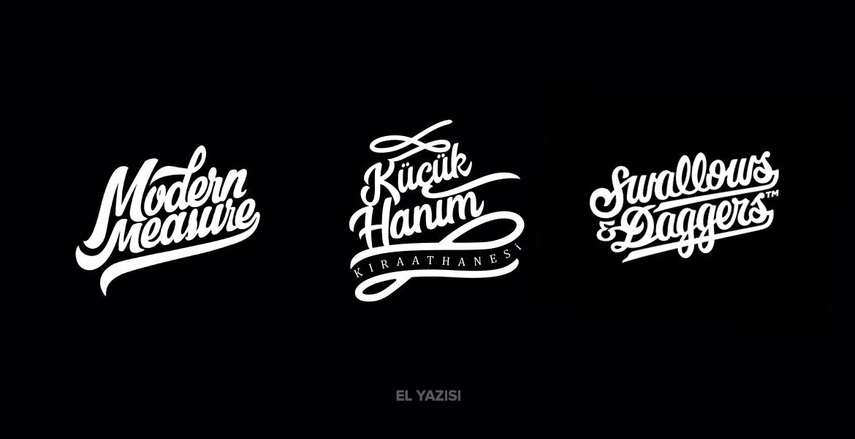 El Yazısı / Script Logo Tasarım Örnekleri