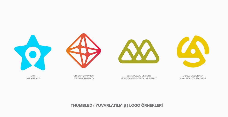 Thumbled (Yuvarlatılmış) Logo Örnekleri