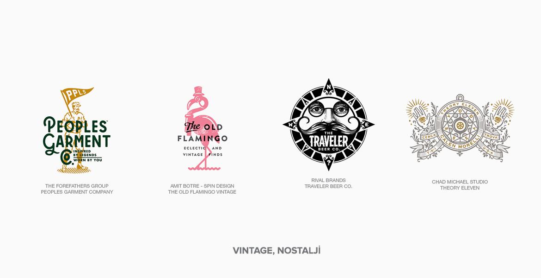 2018 Vintage Logo Tasarım Örnekleri