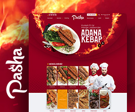 Pasha Restaurant Web Arayüz Tasarım