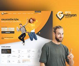 Genç Vizyon Akademi Web Arayüz Tasarım Çalışması